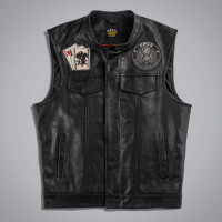 Жилет мужской UNCS JOKER VEST LEATHER - WITHOUT PA Черный