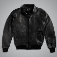 Куртка мужская UNCS AIRFORCE JACKET LEATHER Черный