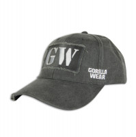 "Бейсболка для бодибилдинга Gorilla Wear ""Washed"" Cap, серая"