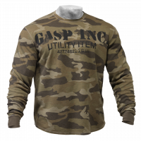 Свитер GASP Thermal Gym Sweater, Green camoprint